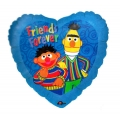 Sesame Street Bert &amp; Ernie Heart Shaped Foil Balloon